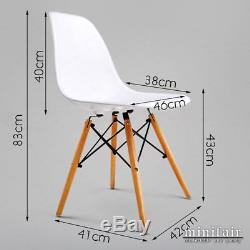 Retro Rectangle White Dining Table And 4 White Dining Chairs DSW Eiffel Style