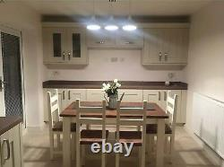 Rustic Farmhouse 1400/800 Dining Table, 4 Chairs And Bench
