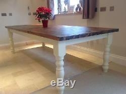 Rustic Farmhouse Shabby Chic 12 Seater Dining Table Bench and Chairs UK Delivery