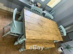 Rustic Plank Top Table 6+ seater with chairs and bench for Kitchen/dinning room