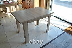 SET of extending dining table and 4 wooden chairs strong, solid oak sonoma MarP