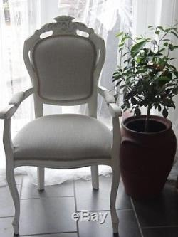 Shabby Chic French Style Dining Table and 6 Dining Chairs