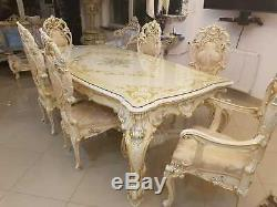 Silik Italy Original Silik Baroque Style Dining Room Table And 6 Chairs #s12