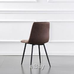Small Dining Table and Chairs 4 Set Black metal leg dining Room Chair Kitchen UK