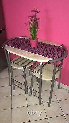 Small Kitchen Table and 2 Chairs Dining Room Furniture Compact Breakfast Seater