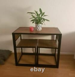 Small Table And 2 Chairs Breakfast Bar Kitchen Dining Room 3 Piece Furniture Set