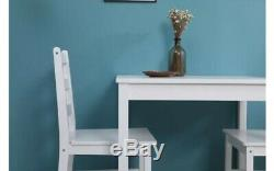 Small Table And 2 Chairs Breakfast Kitchen Dining Room Furniture Set Wood White