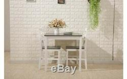 Small Table And 2 Chairs Breakfast Kitchen Dining Room Furniture Set Wooden New
