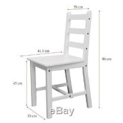 Small White Wooden Dining Table And 2 Chairs Set Kitchen Room