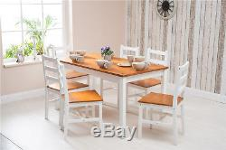 Solid Pine Wood Dining Table and Chair Set Kitchen Dining Home Furniture