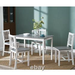 Solid Pine Wooden Dining table and 2 / 4 chairs Set Home Kitchen Furniture Set