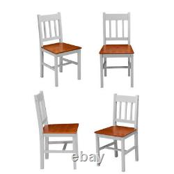 Solid Wood Brown & Grey Dining table and 4 chairs Set Home Kitchen Furniture Set