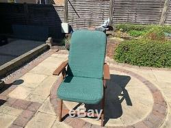 Solid Wood Extendable Garden Table And 6 Folding And Reclining Chairs