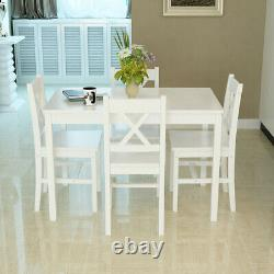 Solid Wooden Dining table and 2 / 4 chairs Set Home Kitchen Furniture