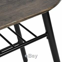 Space Saver Table and Chairs 2 Seater Dining Kitchen Breakfast Set Small Compact