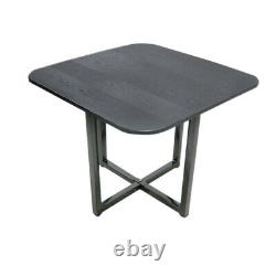 Space Saving Dining Table and 4 chairs Set black Cafe Kitchen Room
