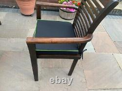 Stunning Solid teak folding garden table and chairs patio garden furniture suite
