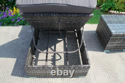 Sun Lounger Bed Rattan Wicker Garden Outdoor Table And Chairs Furniture Patio