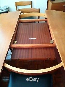 Teak Extending Round 1960s vintage A. H. McIntosh Dining Table and 6 Chairs