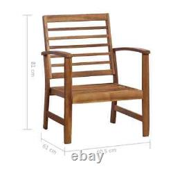 VidaXL Solid Acacia Wood Garden Lounge Set 4 Pieces Outdoor Sofa Table & Chair