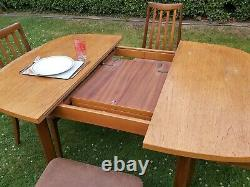 Vintage G Plan Mid Century Fresco Teak Extending Dining Table And Four Chairs