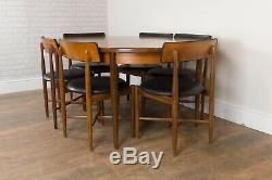 Vintage Retro G Plan Fresco Oval Teak Dining Table and 6 Chairs