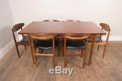 Vintage Retro G Plan Kofod Larsen Dining Table and 8 Chairs