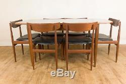 Vintage Retro G Plan Walnut MID Century Dining Table And 6 Chairs