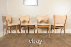 Vintage Retro Light Walnut Dining Table and 4 Chairs by Gordon Russell for Heals