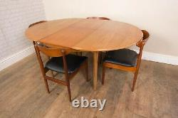Vintage Retro Teak Mid Century Dining Table and 4 Chairs