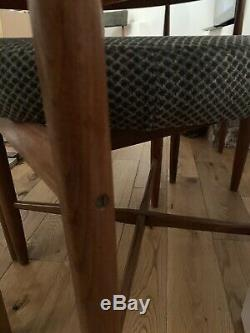 Vintage mid century teak extending dining table and 4 chairs G plan
