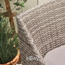 VonHaus Rattan Bistro Set 2 Seater Garden Coffee Table and Chairs Furniture