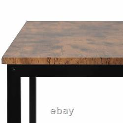Wood Dining Table and Chairs Bench Set Kitchen Dining Room Home Furniture