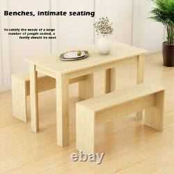 Wood Dining Table and Chairs Bench Set Kitchen Dining Room Home Furniture New
