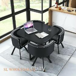 Wood Dining table and 4 chairs retro