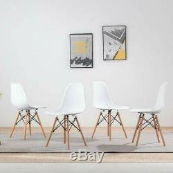 Wood Style Dining Table and 4 Chairs Set for Office Lounge Dining Kitchen Whit