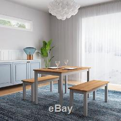 Wooden Dining Table and Chair Benches Kitchen Garden Coffee Restaurant Furniture