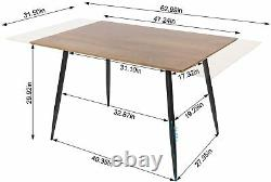 Wooden Extending Kitchen Table 4 Chair Set Dining Home Party Adjustable Table UK