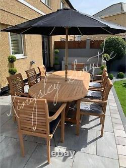 Wooden Garden Furniture Set 8 Seater Garden Table and Chairs Teak Garden Set