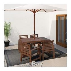 Wooden Garden Furniture Set IKEA APPLARO drop leaf table and 4 chairs